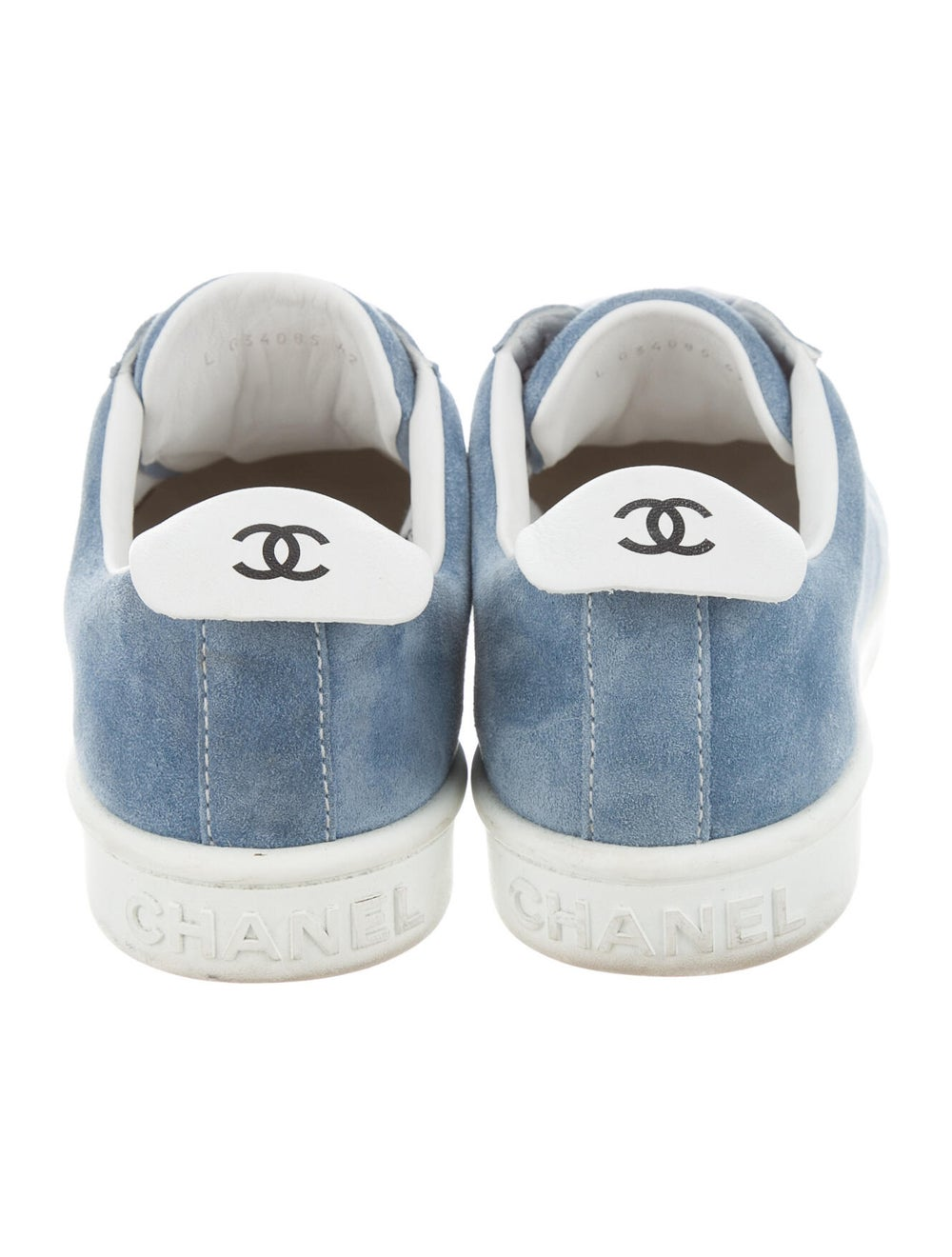 Chanel Logo Suede Sneakers Sneakers Blue - image 4