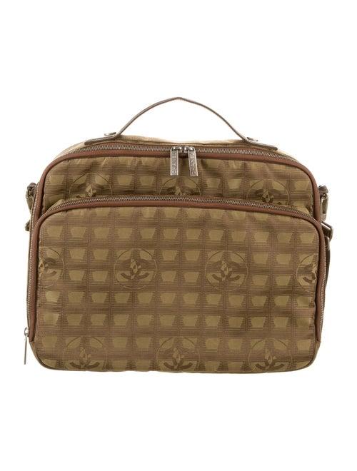 Chanel Travel Ligne Laptop Bag Brown
