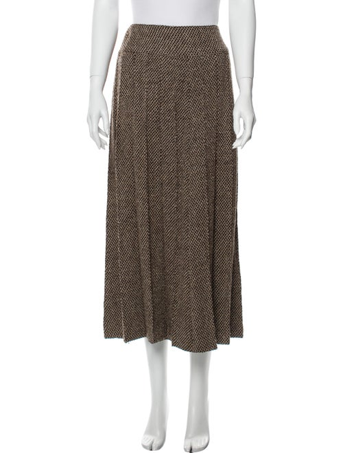 Chanel Vintage Midi Length Skirt Brown