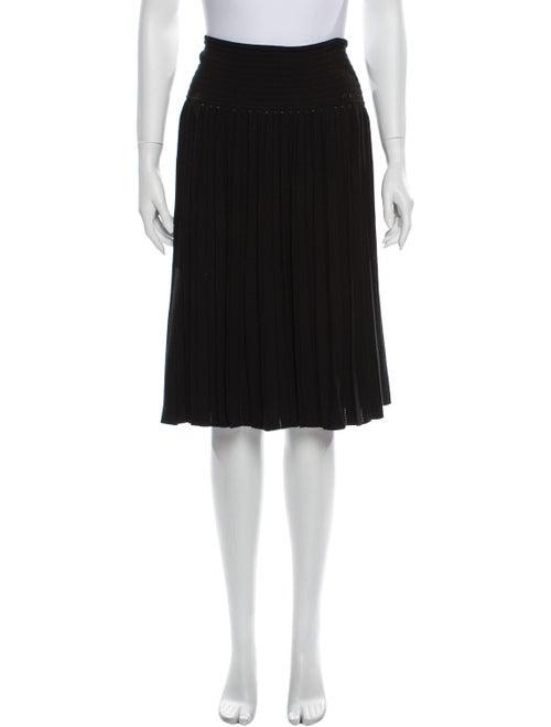 Chanel Vintage Knee-Length Skirt Black