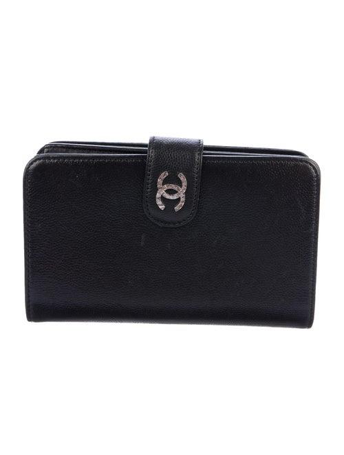 Chanel Brilliant French Purse Wallet Black