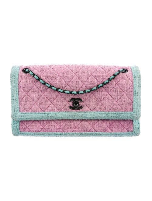Chanel Terry Cloth Single Flap Bag aqua