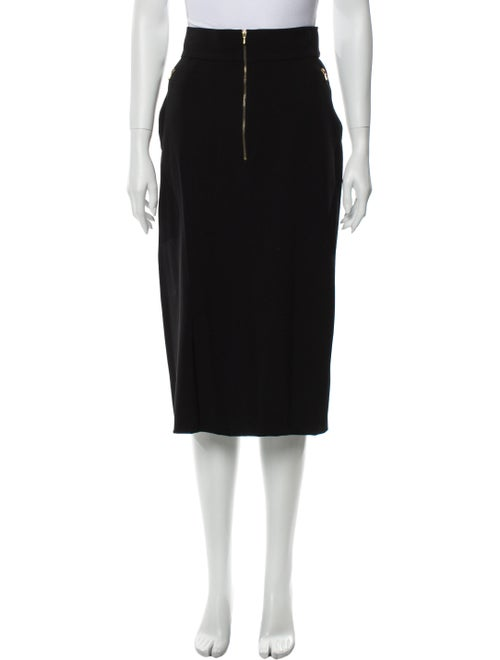 Chanel Vintage Midi Length Skirt Black