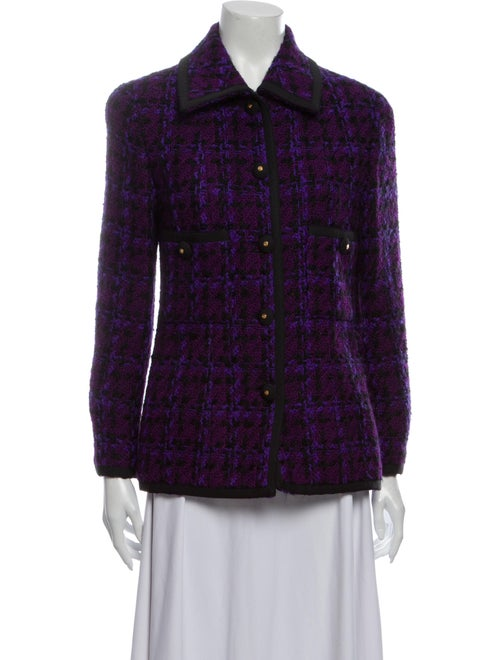 Chanel Vintage 1990's Blazer Purple