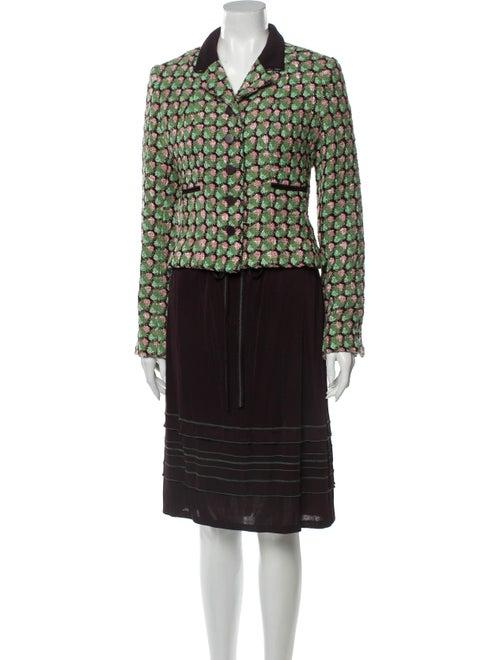 Chanel Vintage 2002 Skirt Suit Green