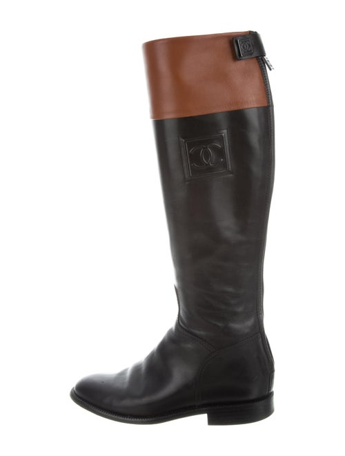 Chanel 2006 CC Riding Boots Riding Boots Black