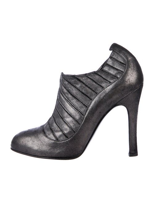 Chanel Suede Boots Metallic