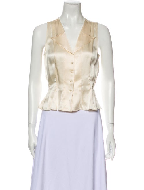 Chanel 2002 Silk Button-Up Top