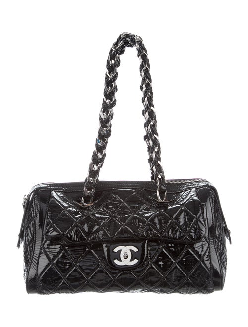 Chanel Large Day Glo Flap Bag Black