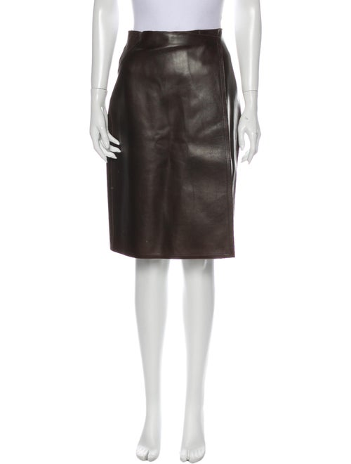 Chanel Vintage Knee-Length Skirt Brown - image 1