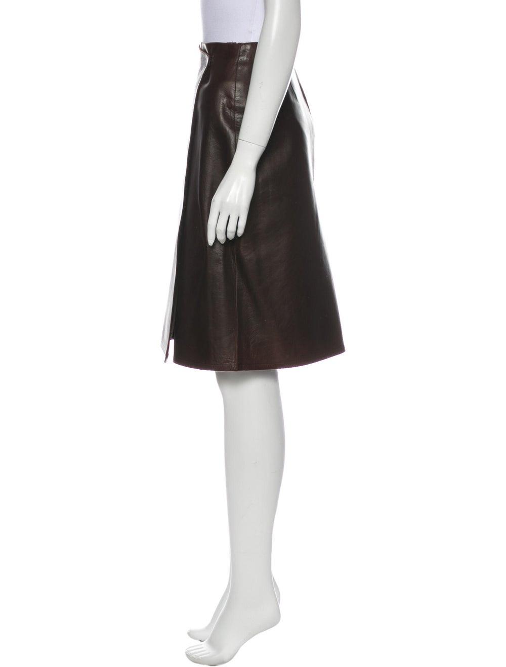 Chanel Vintage Knee-Length Skirt Brown - image 2