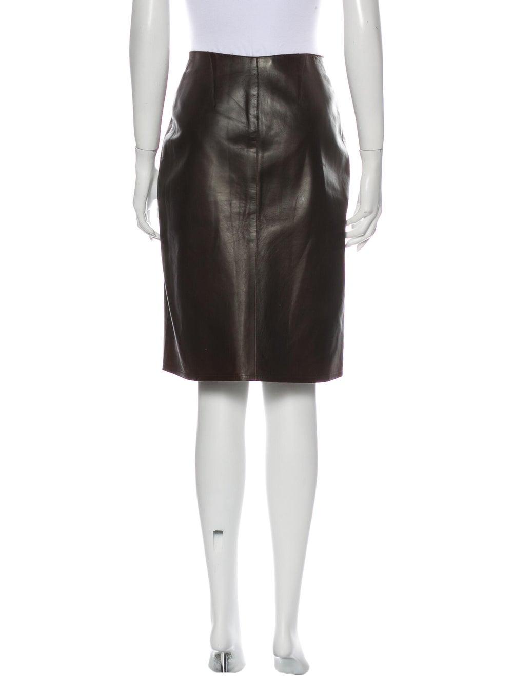 Chanel Vintage Knee-Length Skirt Brown - image 3