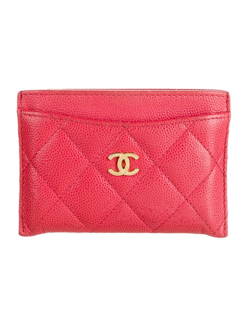 Chanel Classic Quilted CC Cardholder Pink