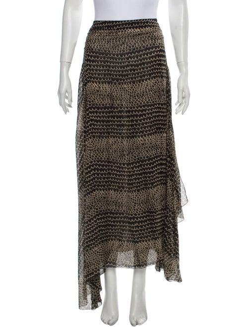 Chanel Vintage Long Skirt Black