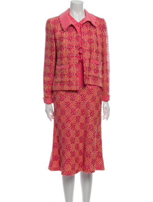 Chanel 2001 Tweed Dress Set Dress Set Pink