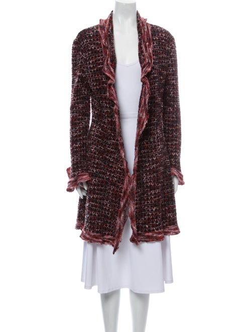 Chanel 1997 Metallic Wool Cardigan Sweater Metalli