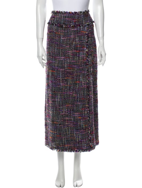 Chanel Vintage Midi Length Skirt Purple