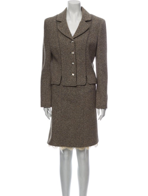 Chanel 2003 Wool Skirt Suit Wool