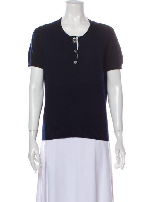 Chanel 2009 Cashmere T-Shirt Blue