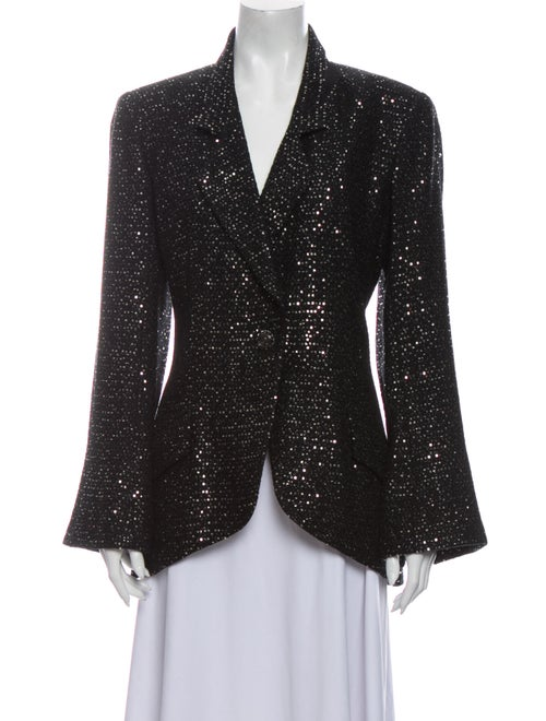 Chanel 2011 Sequin Blazer Black