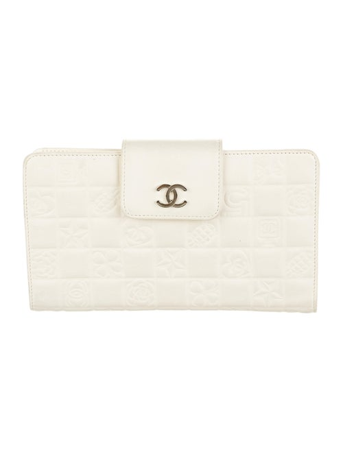 Chanel Precious Symbols French Purse Wallet silver