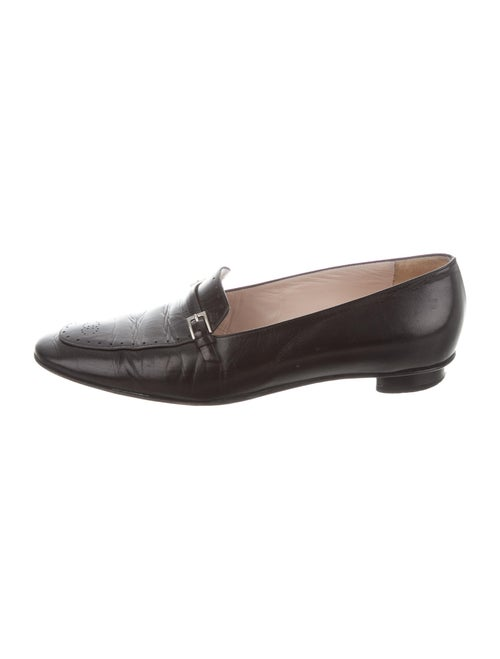 Chanel Leather Loafers Black