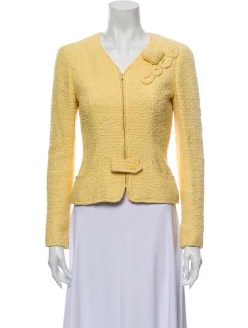 Chanel 2004 Coco Heart Evening Jacket Yellow
