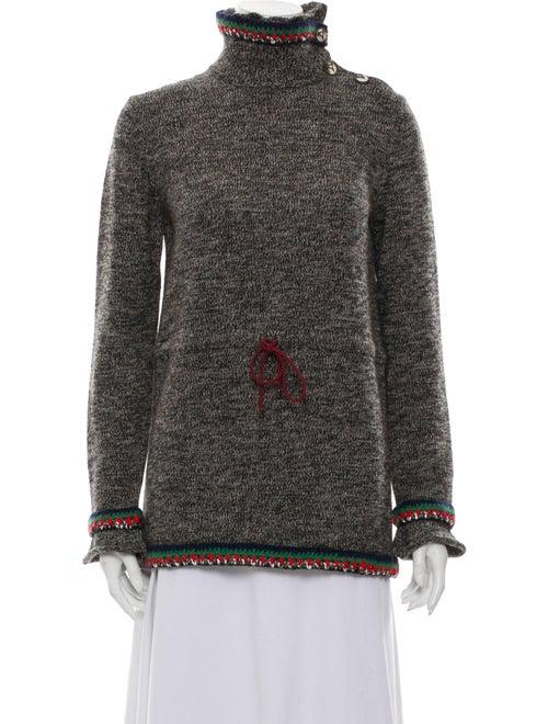 Chanel 2015 Drawstring Flared Sweater Grey