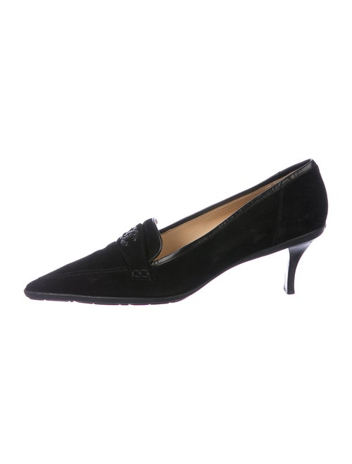 Chanel Vintage Suede Pumps Suede Pumps Black