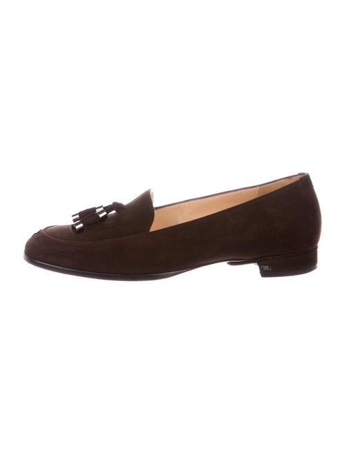 Chanel 2002 CC Tassel Loafers Loafers Brown