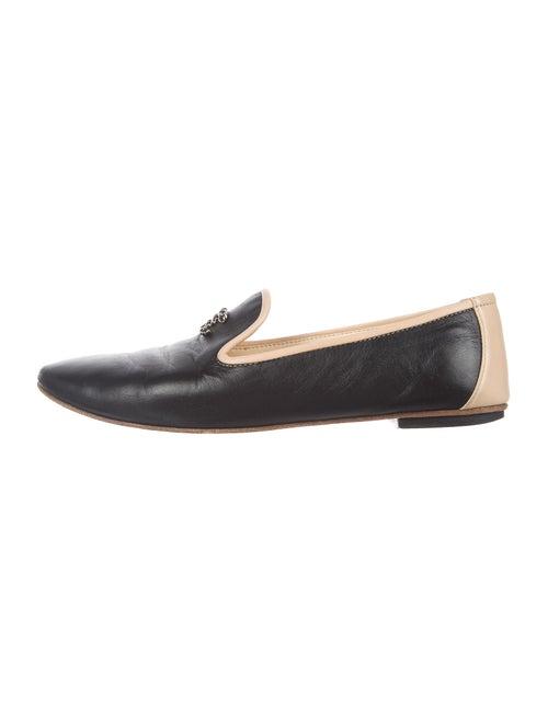 Chanel Interlocking CC Logo Leather Loafers Calf L