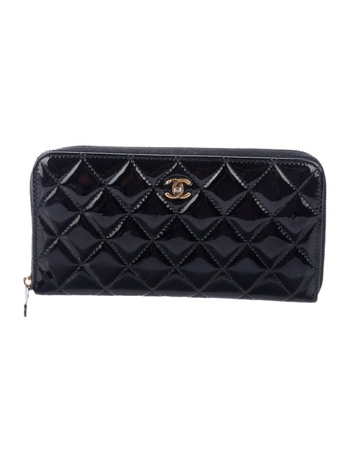 Chanel Quilted Long Gusset Wallet Black