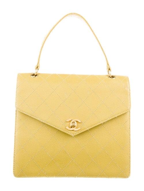 Chanel Vintage CC Handle Bag Chartreuse