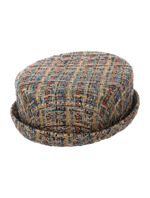 Chanel 2019 Tweed Hat Gold