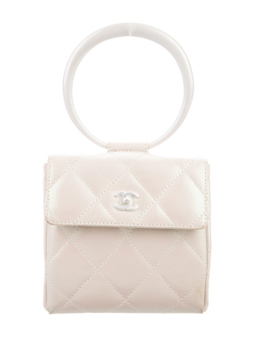 Chanel Vintage Quilted Ring Bag Metallic
