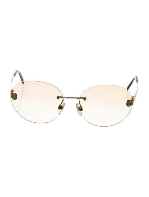 Chanel Rimless Tinted Sunglasses Gold