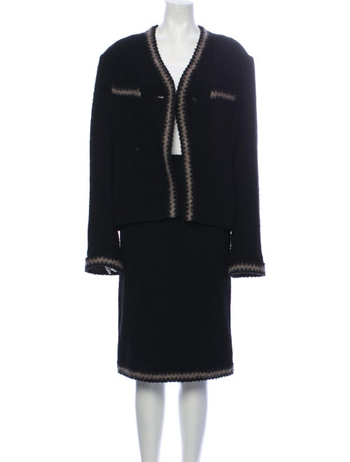 Chanel 1998 Wool Skirt Suit Wool
