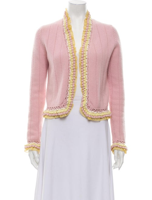 Chanel 2004 Cashmere Open-Front Cardigan Sweater P