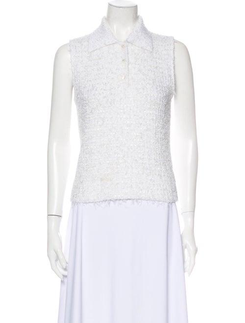 Chanel 1999 Sleeveless Top White