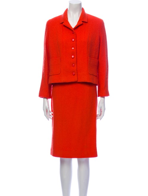Chanel 1996 Wool Skirt Suit Wool
