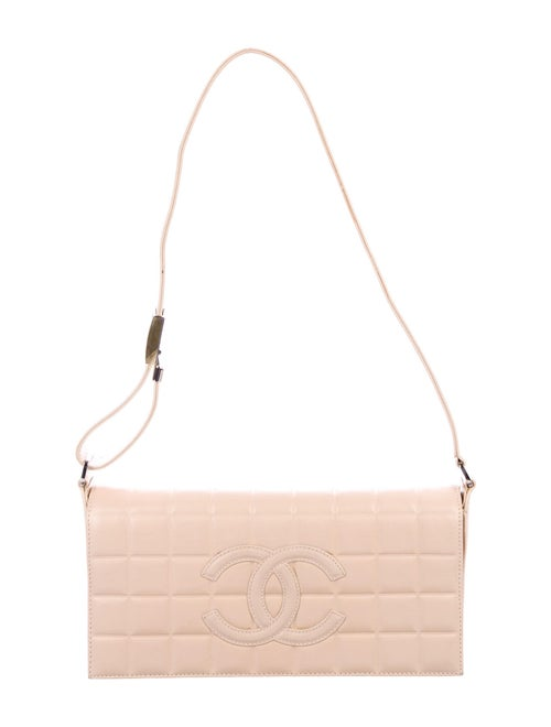 Chanel Chocolate Bar Flap Bag Champagne