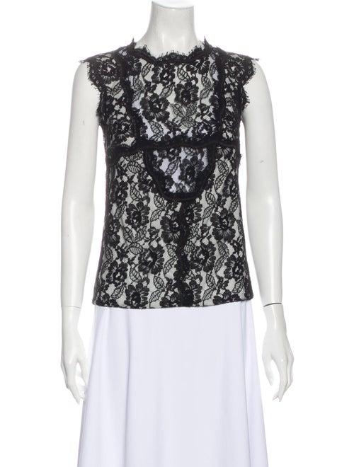 Chanel 2014 Lace Pattern Top Black