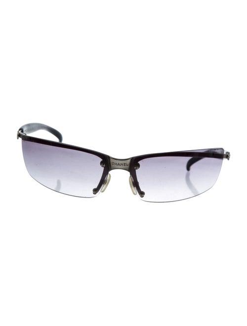 Chanel Rimless CC Sunglasses Silver