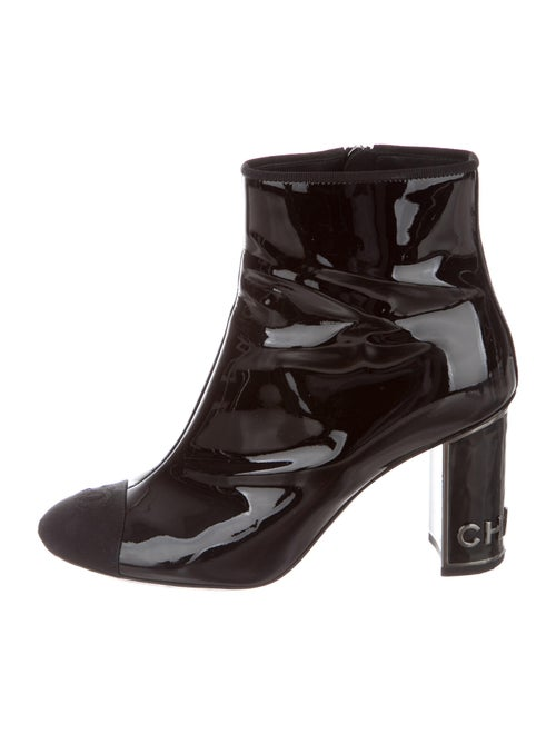 Chanel Patent Leather Boots Black