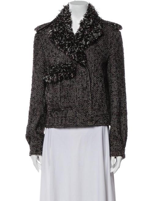 Chanel 2012 Fringed Bouclé Jacket Jacket Black
