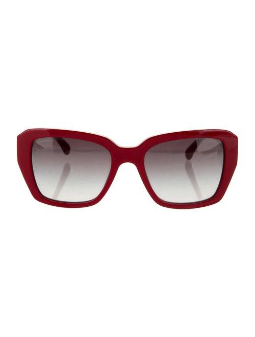 Chanel Square CC Sunglasses Red