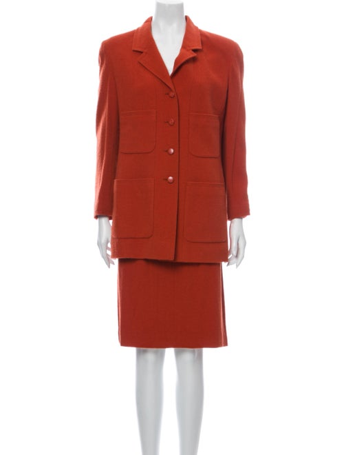 Chanel Wool Skirt Suit Wool