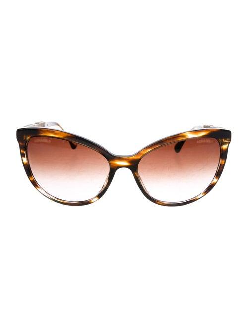 Chanel Bijou Cat-Eye Sunglasses Brown
