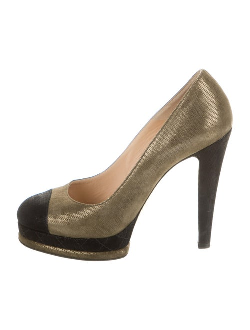 Chanel Metallic Suede Suede Pumps Metallic