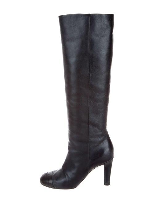 Chanel CC Knee-High Boots Interlocking CC Logo Boo